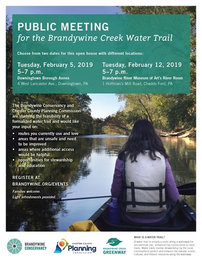 PUBLIC MEETING for the Brandywine Creek Water Trail