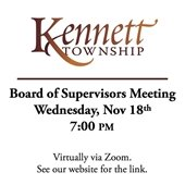 Board of Supervisors Meeting 11/18 @ 7 pm