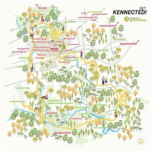 Map of Kennett Greenway