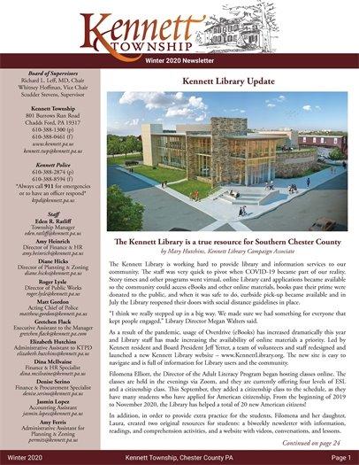 Winter 2020 KT Newsletter