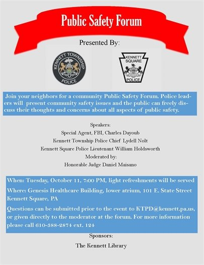 Public Safety Forum