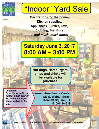 Kennett Area Senior Center Yard Sale