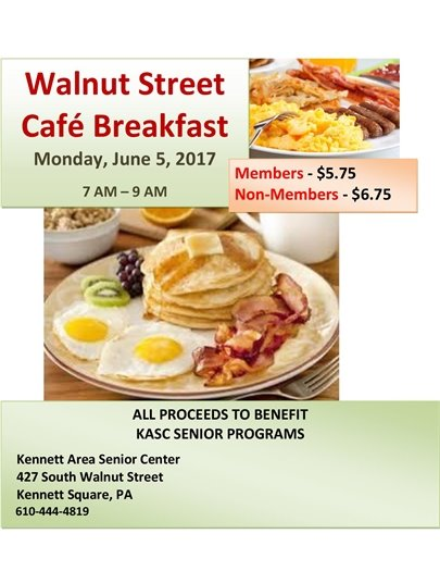 Walnut Street Cafe Breakfast