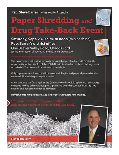 Shredding/Drug Take-Back event