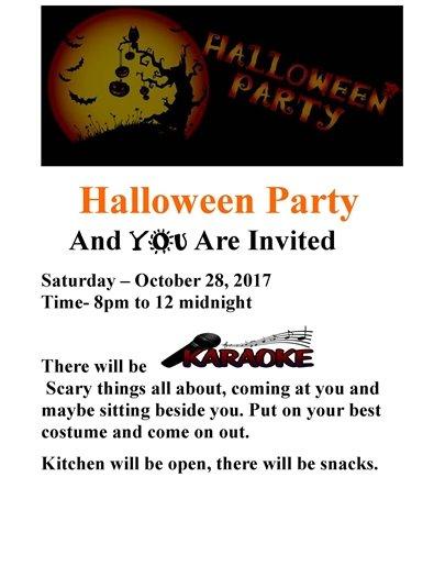 VFW Halloween party