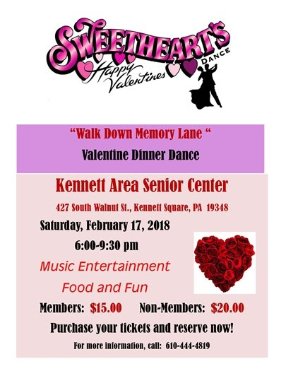 senior center sweetheart dance