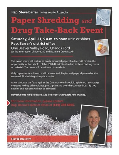 Paper Shredding and Drug Take Back Event