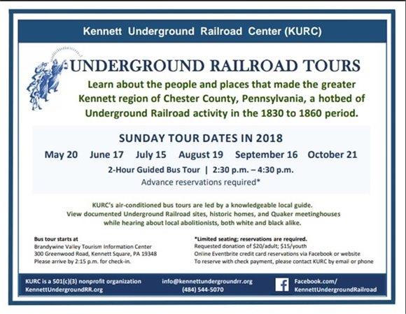 Kennett underground railroad tours