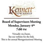 Reorganizational Board of Supervisors Meeting 1/4/2021