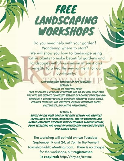 Free Landscaping Workshop Flyer