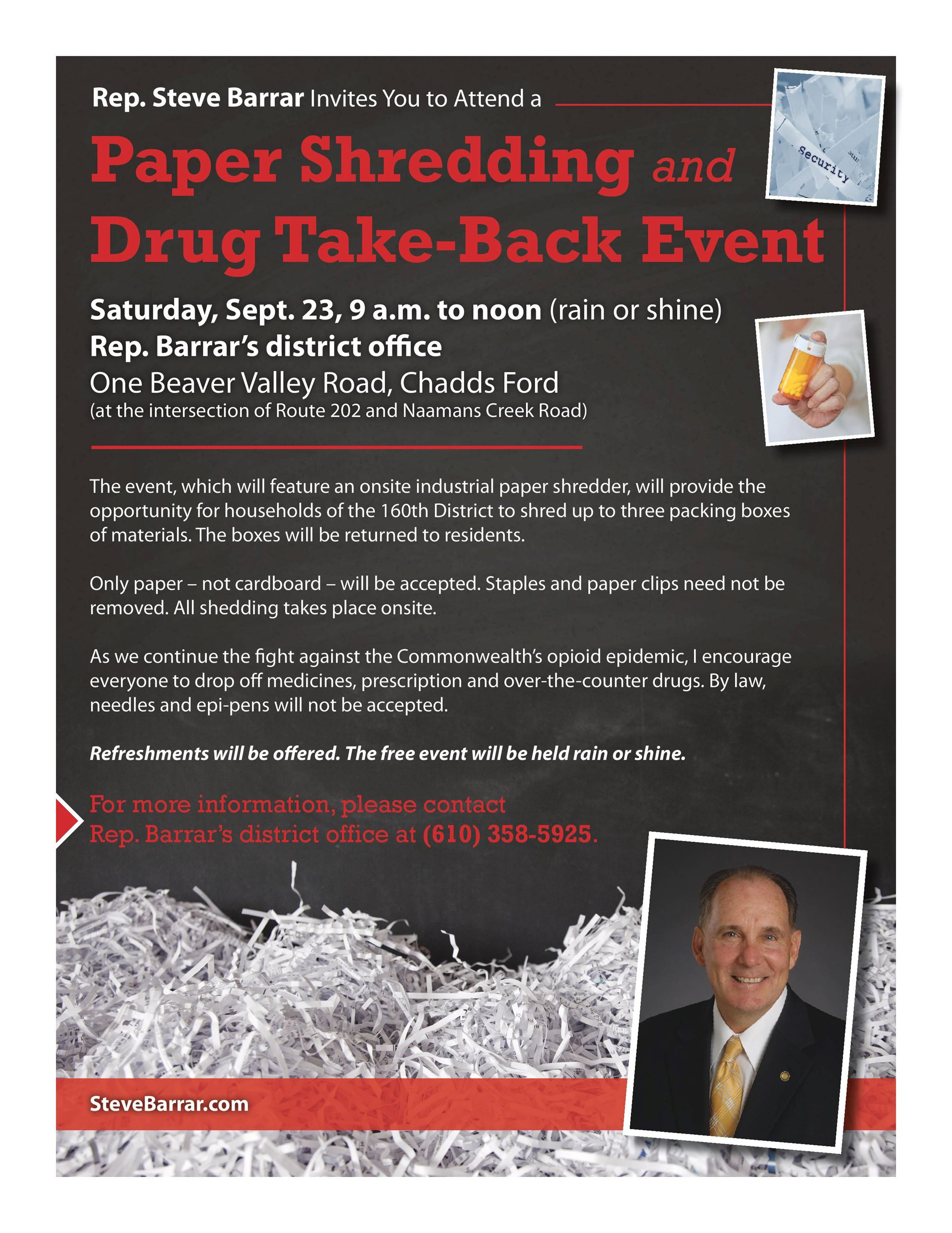 Barrar Shredding and Drug Take Back flyer_8-17