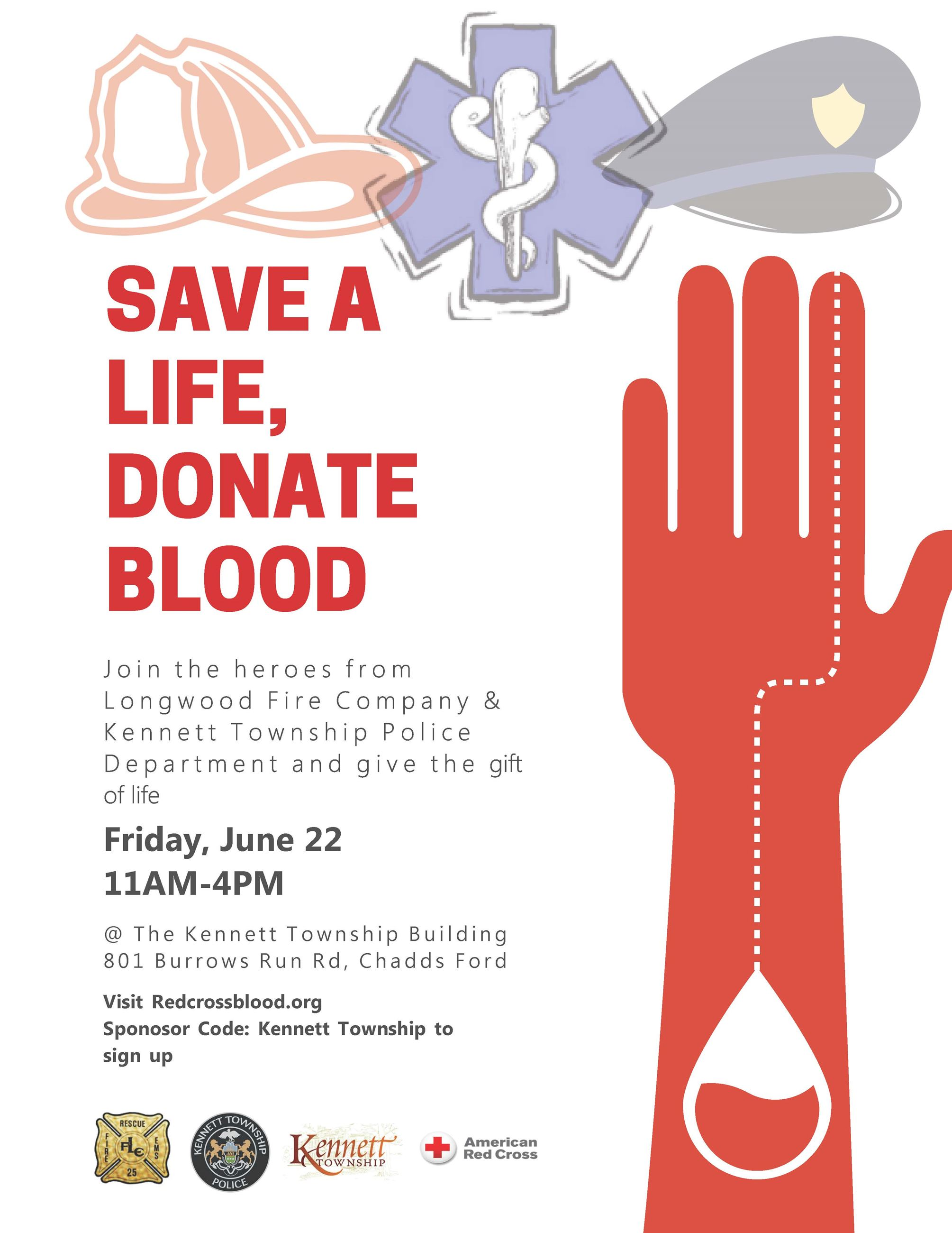Blood Drive Poster Letter Size 2018