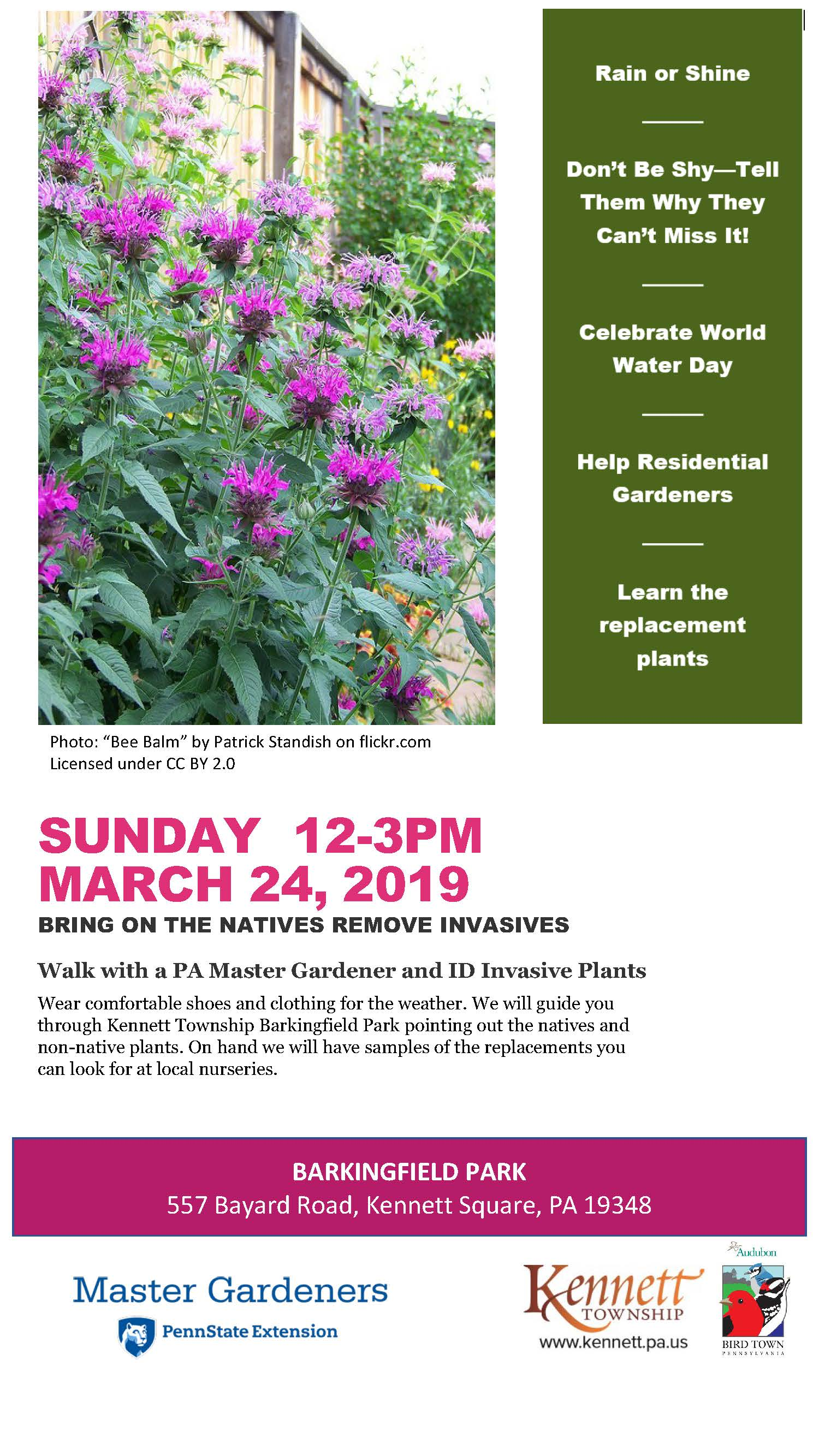 March 24 Barkingfield Plant Program