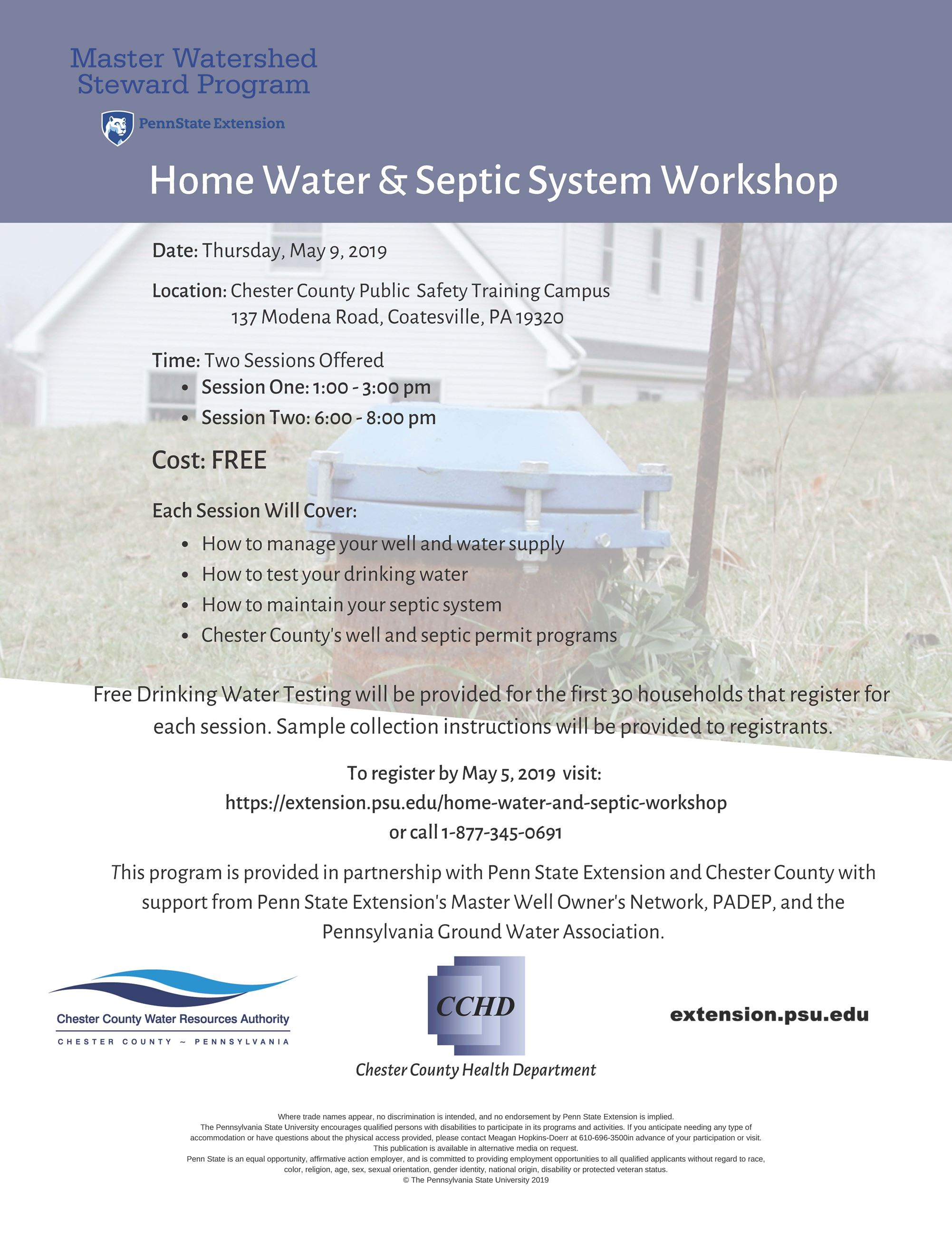 Home Water  Septic System Workshop