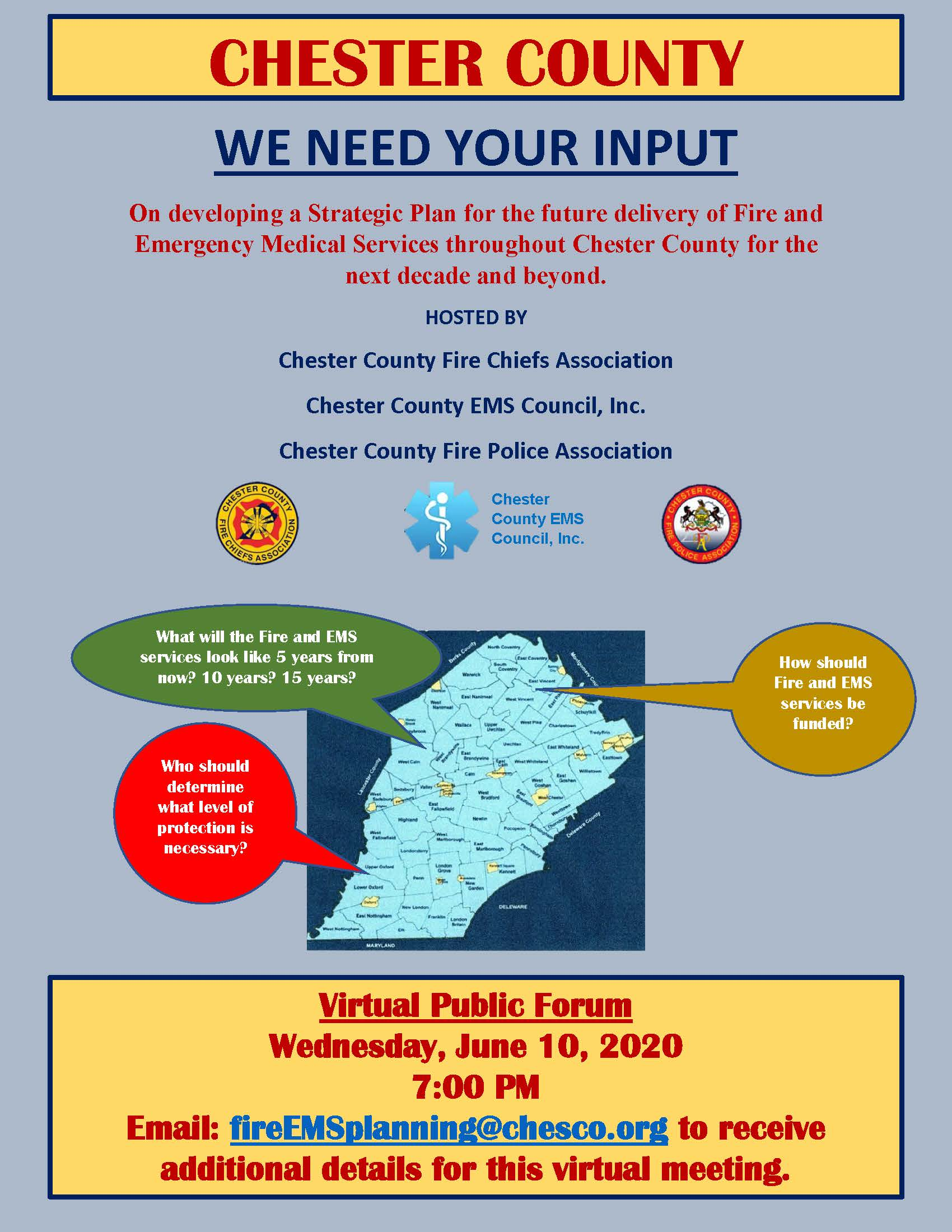 EMS Fire Virtual Public Forum Flyer