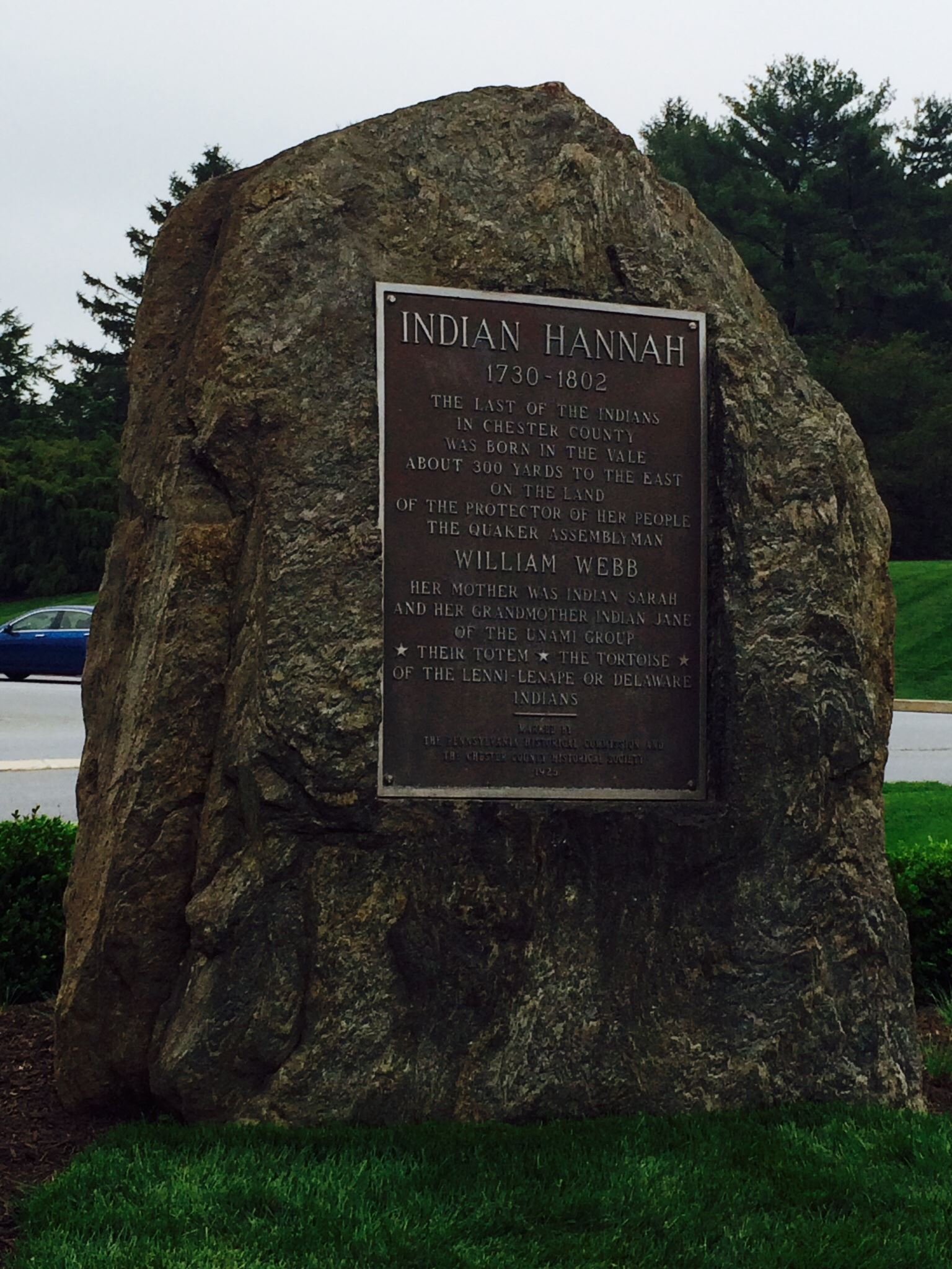 Indian Hannah Rock Plaque